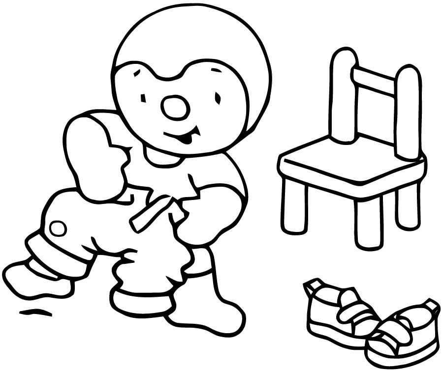 T'Choupi Et Doudou #17 (Dessins Animés) – Coloriages À tout Tchoupi Al Ecole