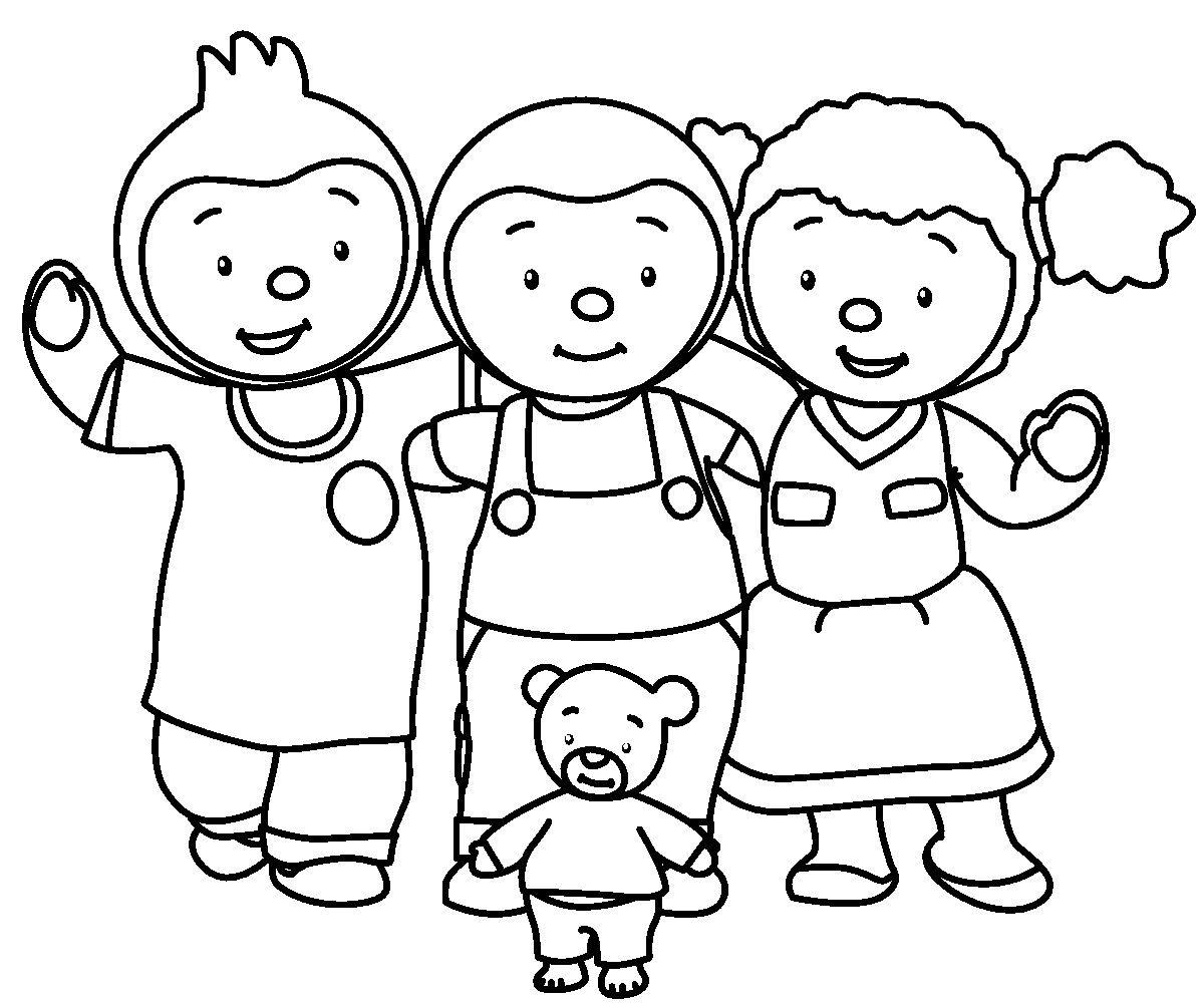 T'Choupi Et Doudou (Dessins Animés) – Coloriages À Imprimer avec Tchoupi Al Ecole