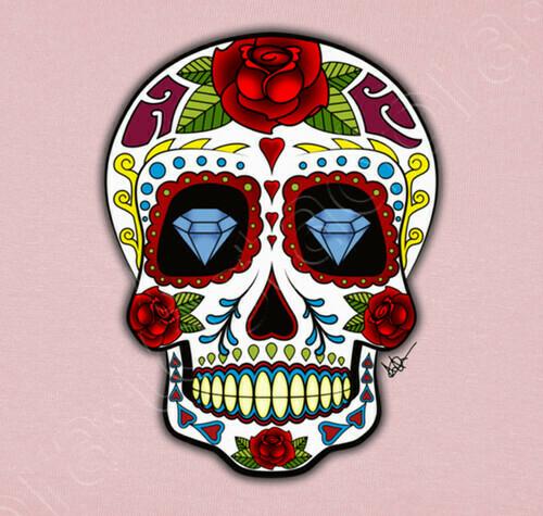 Vêtements Enfant Diamants Du Crâne Mexicain !!! - 1568846 concernant Crane Mexicain Dessin