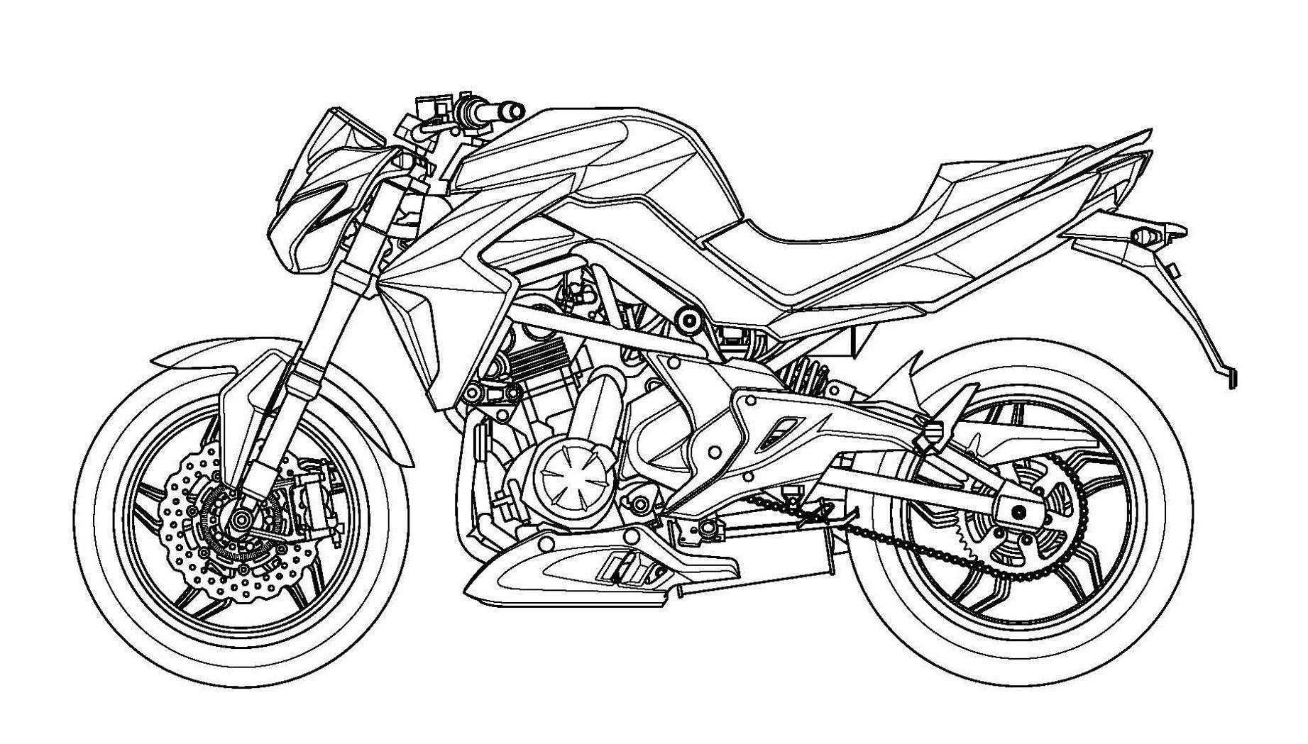 082216-Kymco-Er6N-07 | Bike | Drawings, Adult Coloring, Art destiné Dessin De Moto Ktm