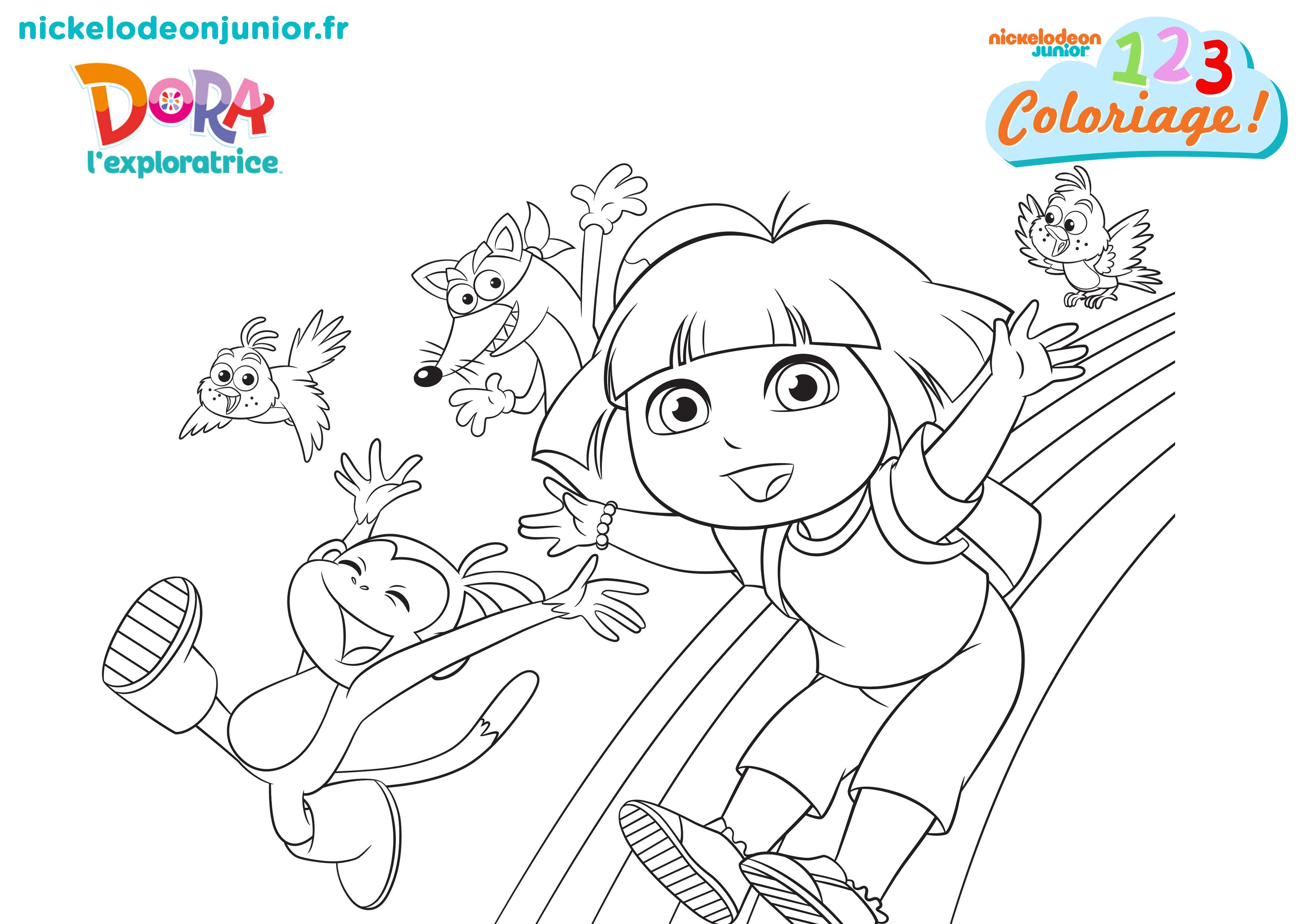 1, 2, 3 Coloriage ! | Coloriez Le Dessin De 1, 2, 3 dedans Dessin A Colorier Dora Gratuit A Imprimer