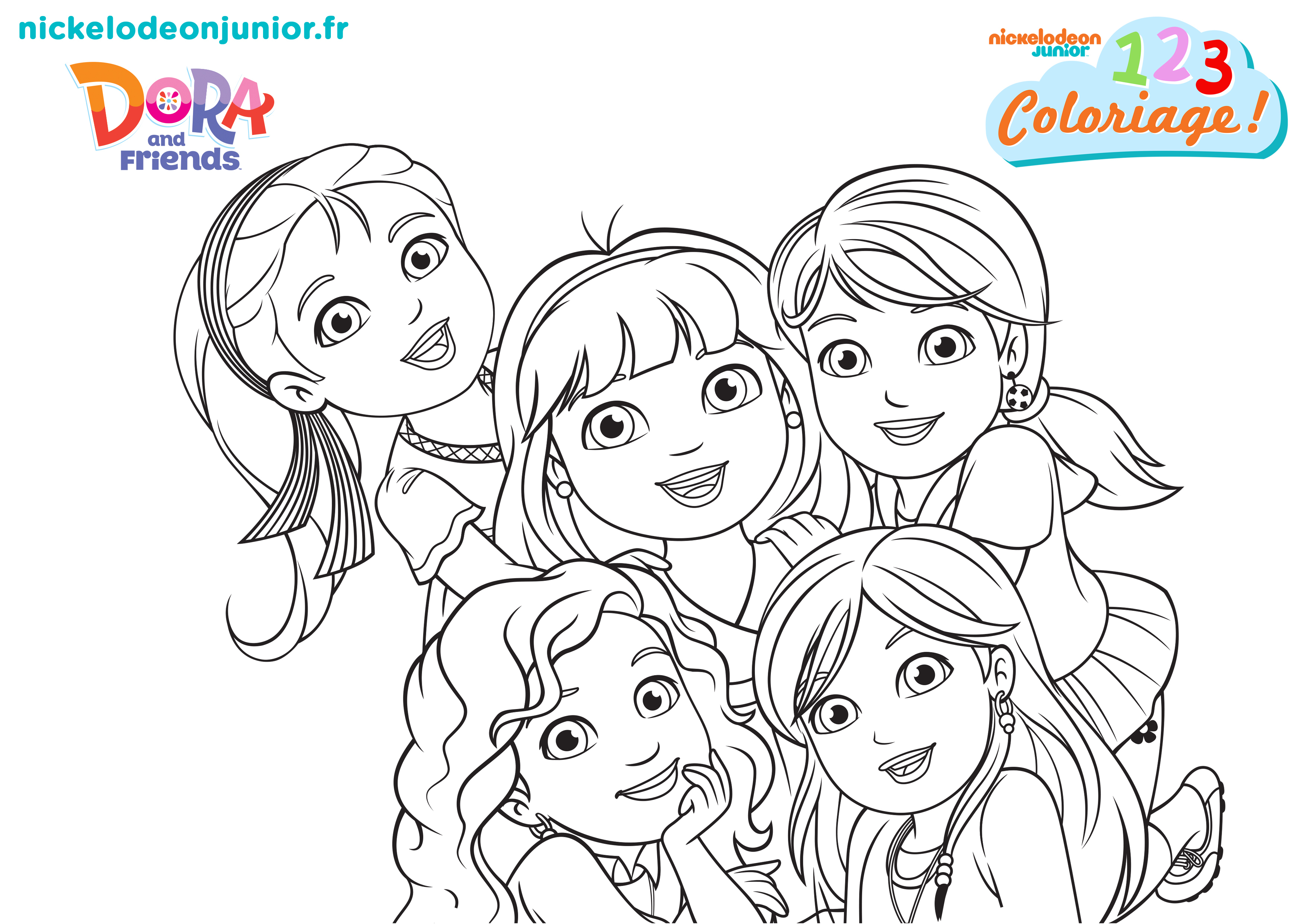 1, 2, 3 Coloriage !   Dora And Friends : Au Coeur De La concernant Dessin A Colorier Dora Gratuit A Imprimer
