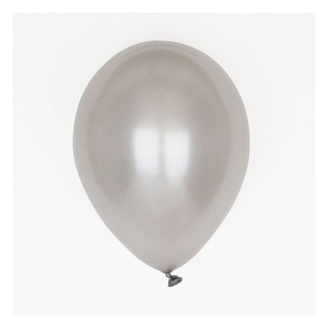 10 Ballons De Baudruche Argentés (Avec Images)   Ballon dedans Dessin Ballon Baudruche