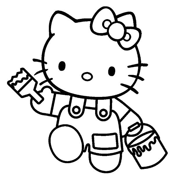 10 Best Hello Kitty Digi Stamps Images On Pinterest serapportantà Coloriage À Imprimer Hello Kitty Sirène