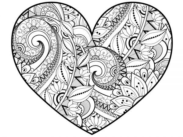 10 Coloriages De Coeurs Pour La Saint-Valentin avec Coloriage À Imprimer De Coeur