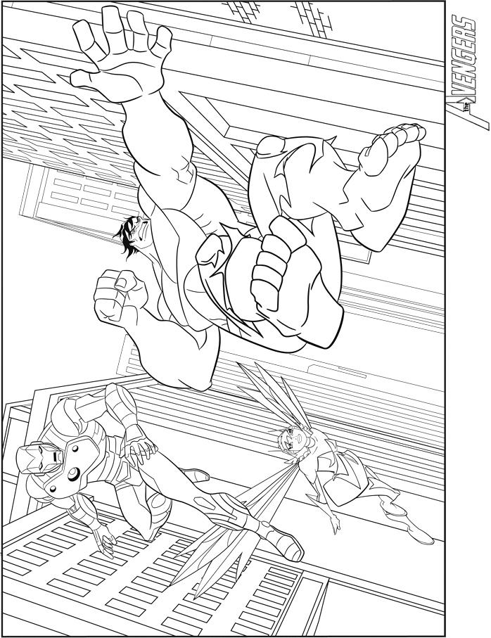10 Dessins De Coloriage Hulk Avengers À Imprimer concernant Dessin Des Avengers