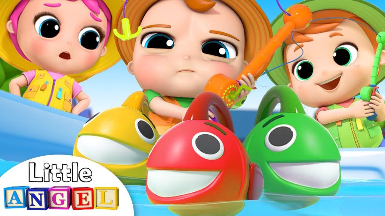 10 Little Fishies Song | Little Angel Nursery Rhymes serapportantà Little Angel