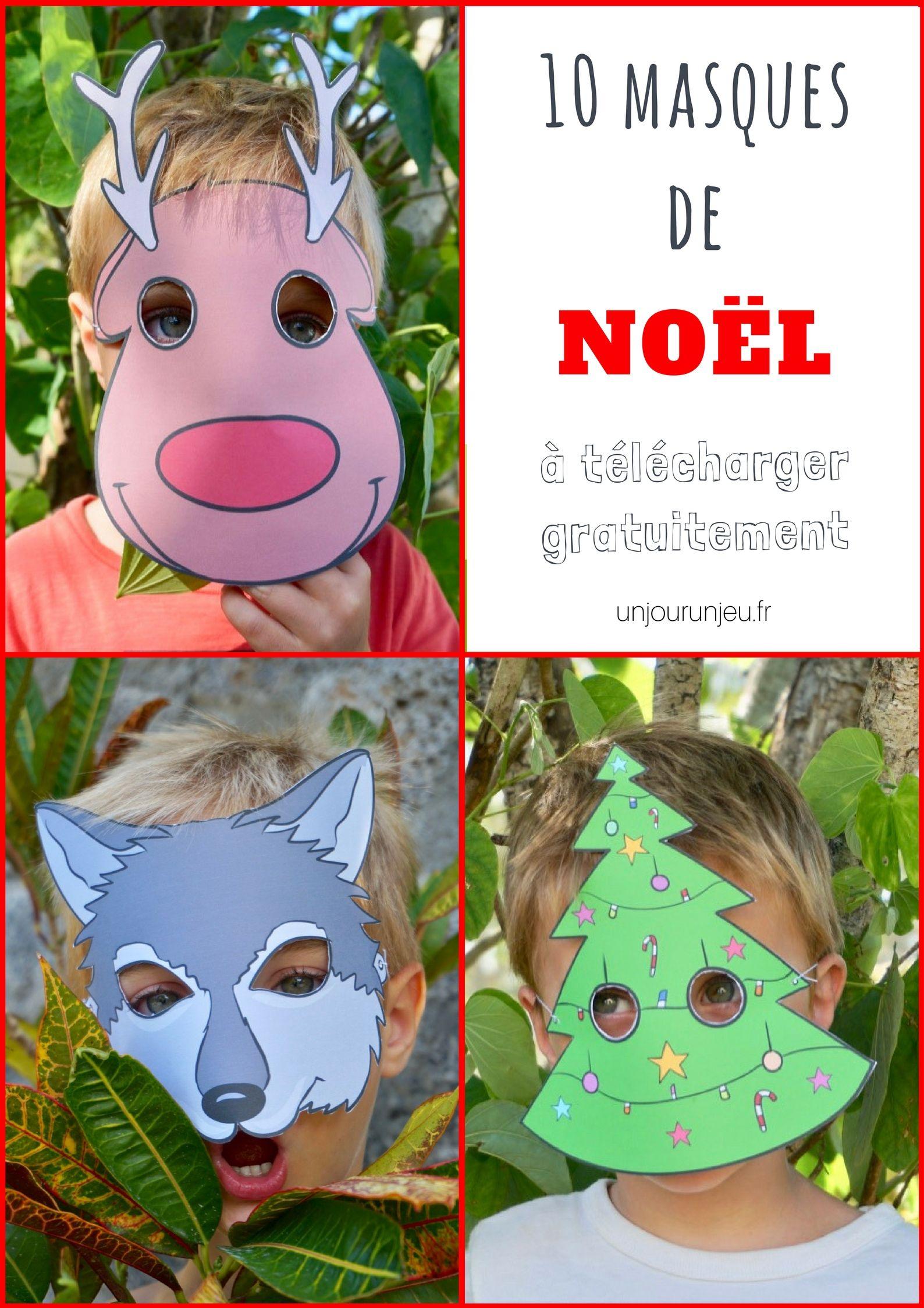 10 Masques De Noël À Imprimer Gratuitement Pour Amuser Vos serapportantà Masque De Poule À Imprimer