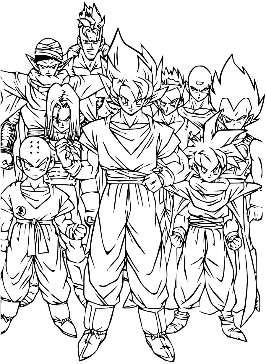 10 Petite Coloriage Dragon Ball Z A Imprimer Photos In tout Coloriage Difficile Dragon