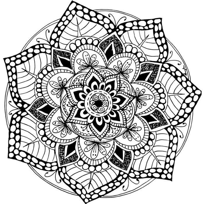 1001+ Dessins De Mandala À Imprimer Et À Colorer | Mandala destiné Imprimer Coloriage Mandala