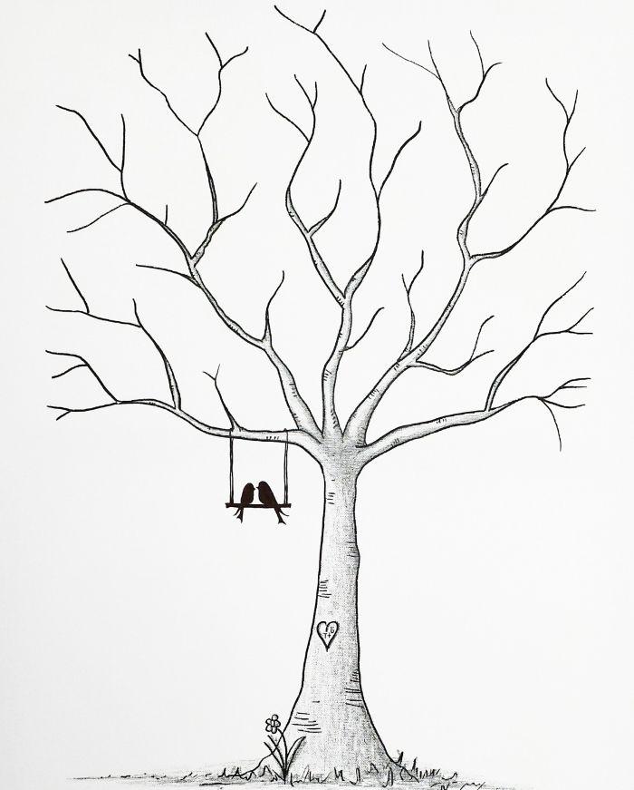 1001 + Exemples, Conseils Et Idées Pour Créer Un Arbre À dedans Dessin D Arbre En Hiver