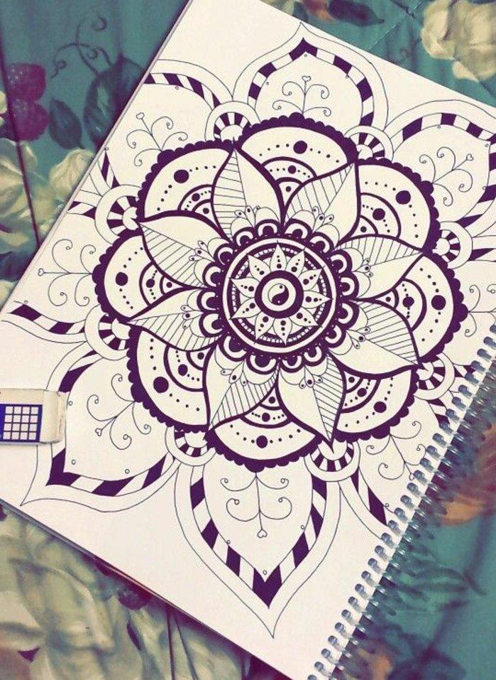 1001 + Ideen Zum Thema Mandala Malen + Ausführliche à Mandala Facile A Dessiner