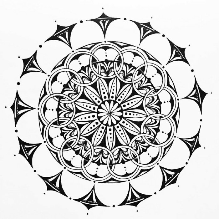 1001 + Ideen Zum Thema Mandala Malen + Ausführliche pour Mandala Facile A Dessiner