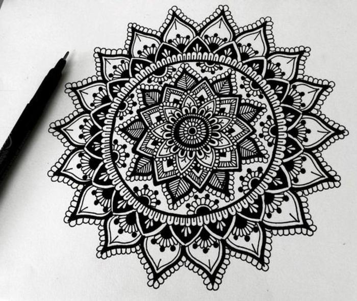 1001+ Idées Et Techniques Pour Faire Un Mandala intérieur Mandala Facile A Dessiner