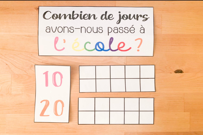 100Ème Jour D'école serapportantà Chaque Jour Compte Rituel Anglais Cm