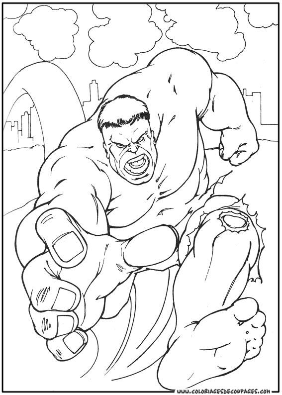 101 Dessins De Coloriage Hulk À Imprimer avec Coloriage Hulk