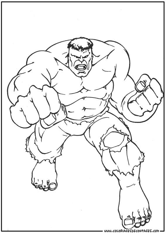 101 Dessins De Coloriage Hulk À Imprimer pour Coloriage Hulk