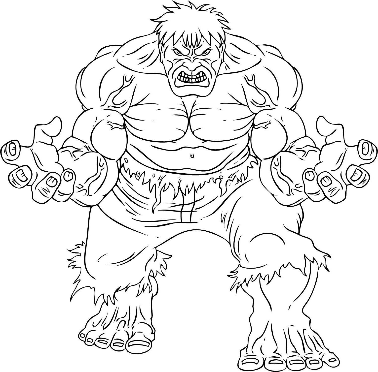 101 Dessins De Coloriage Hulk À Imprimer tout Coloriage Avengers A Imprimer