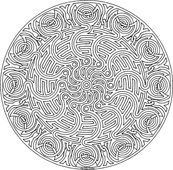 101 Ideas: 25. Mandala Coloring Pages dedans Dessin Tres Dur