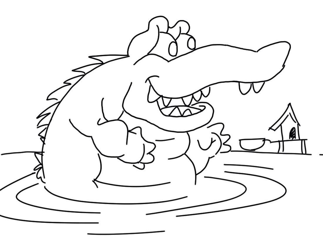 106 Dessins De Coloriage Crocodile À Imprimer Sur intérieur Coloriage Crocodile A Imprimer Gratuit