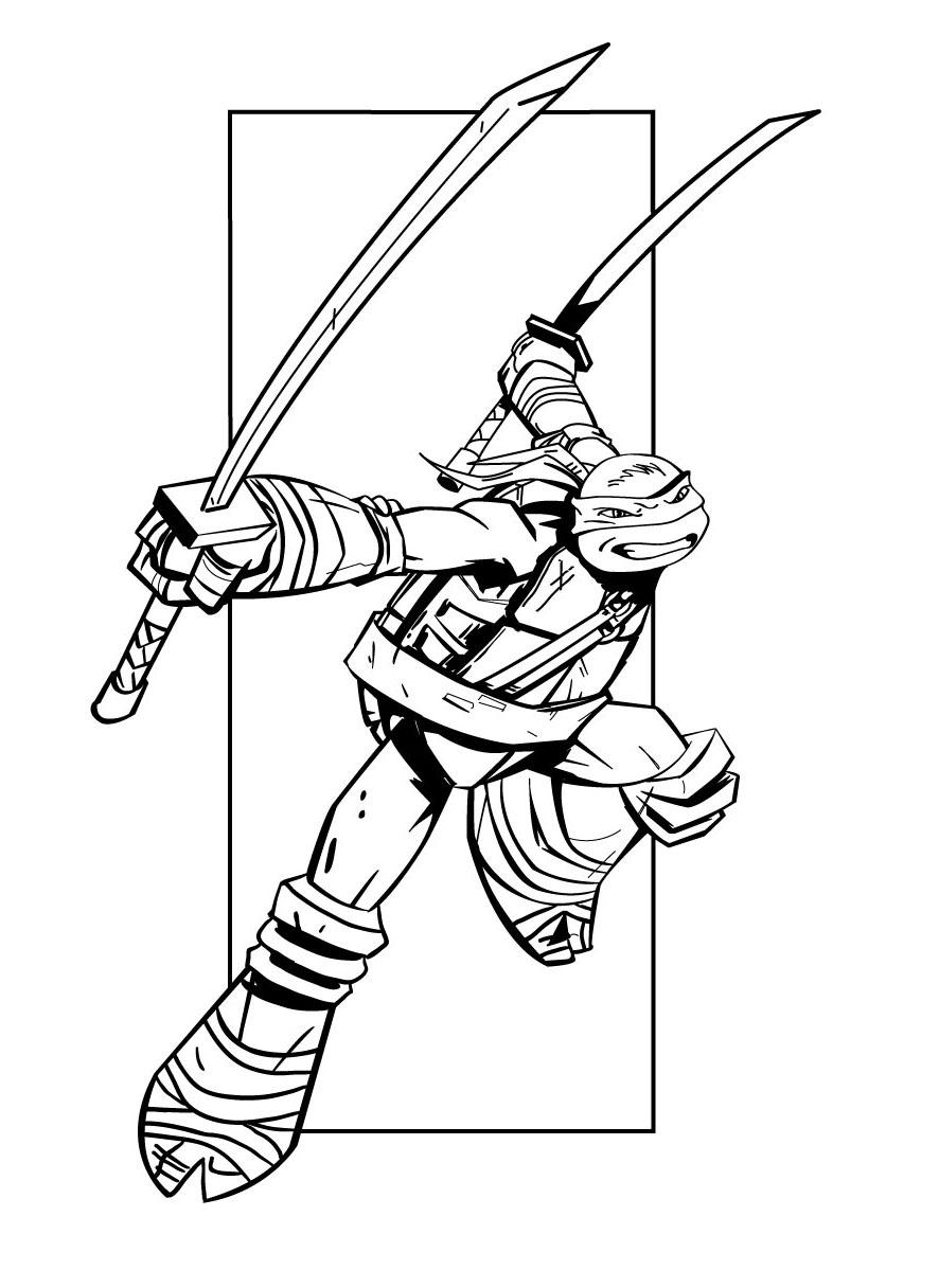 106 Dessins De Coloriage Tortue Ninja À Imprimer Sur destiné Coloriage Tortue Ninja Michelangelo