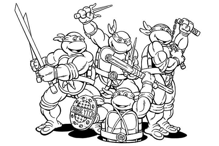 106 Dibujos De Las Tortugas Ninja Para Colorear | Oh Kids concernant Coloriage De Tortue À Imprimer