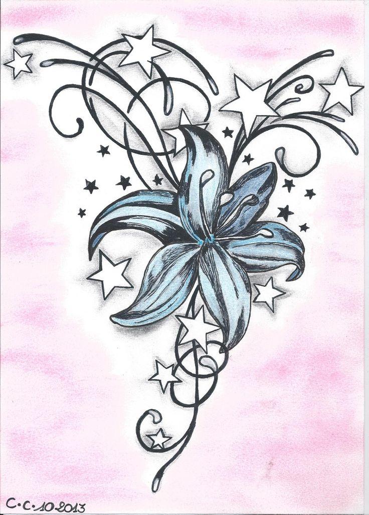 107 Best Tattoos Images On Pinterest | Tattoo Designs à Dessin De Fleure