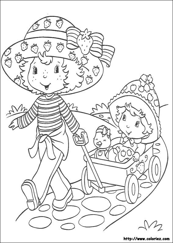 109 Dessins De Coloriage Charlotte Aux Fraises À Imprimer pour Coloriage Charlotte Au Fraise