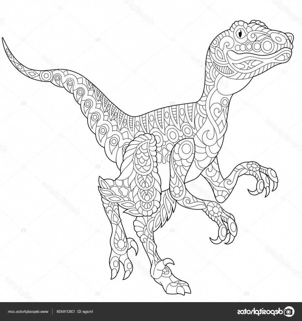 11 Beau De Raptor Dessin Collection - Coloriage : Coloriage concernant Coloriage Dinosaure Raptor