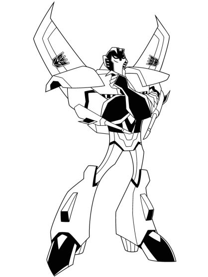 11 Dessins De Coloriage Transformers Starscream À Imprimer destiné Dessin De Transformers