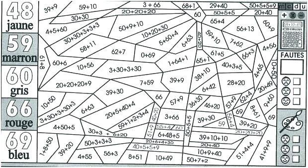 11 Lunatique Coloriage Magique Ce1 Multiplication Pics destiné Coloriage Magique Ce1 Maths