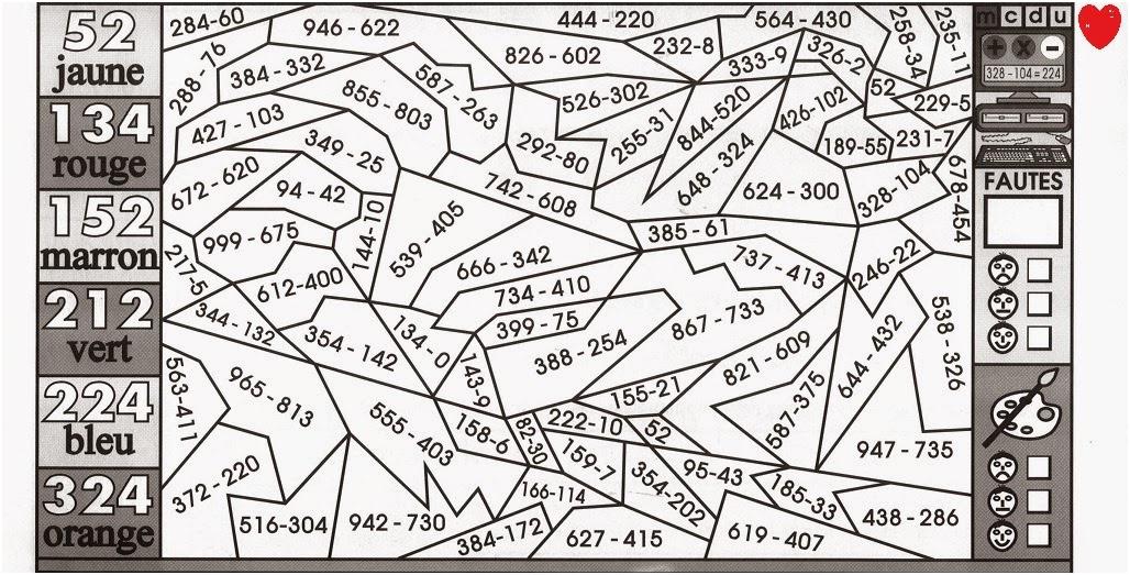11 Simpliste Coloriage Magique Ce2 Gallery   Coloriage dedans Coloriage Magique Maths Ce2