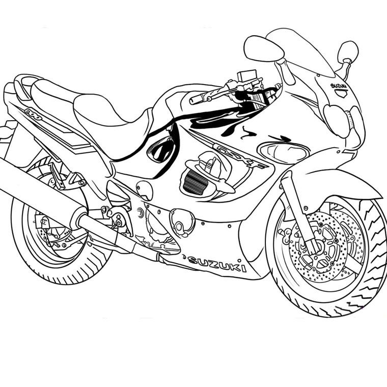 113 Dessins De Coloriage Moto À Imprimer avec Dessin De Moto Ktm