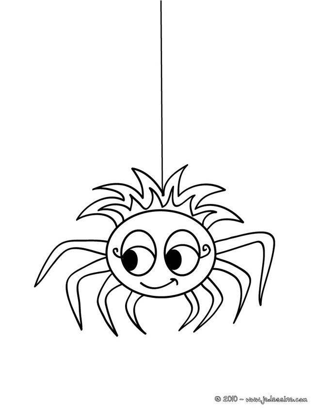 115 Dessins De Coloriage Araignée À Imprimer pour Dessin Araignée Facile