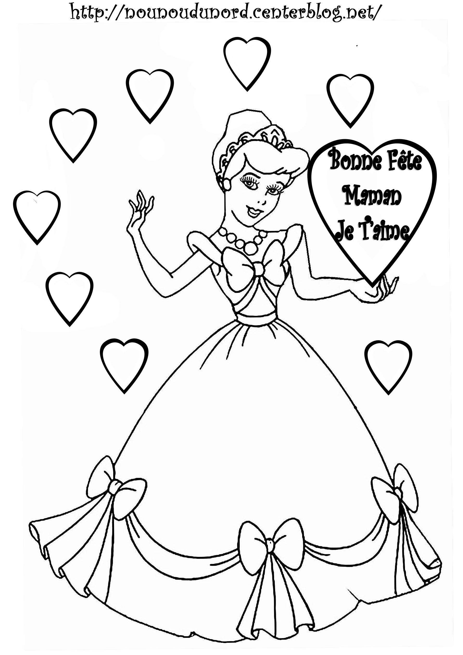 115 Dessins De Coloriage Cendrillon À Imprimer encequiconcerne Coloriage Fete Des Maman A Imprimer