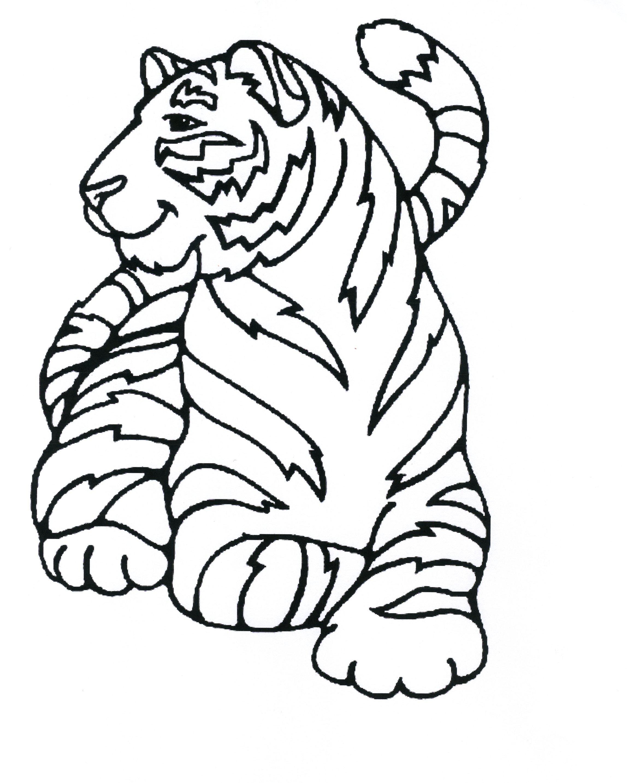115 Dessins De Coloriage Tigre À Imprimer à Coloriage Hugo L'Escargot A Imprimer Gratuit