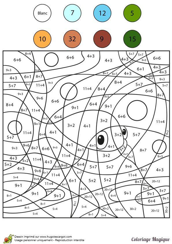 116 Best Coloriages Magiques (Coloring By Numbers) Images dedans Coloriage Magique Avec Addition A Imprimer