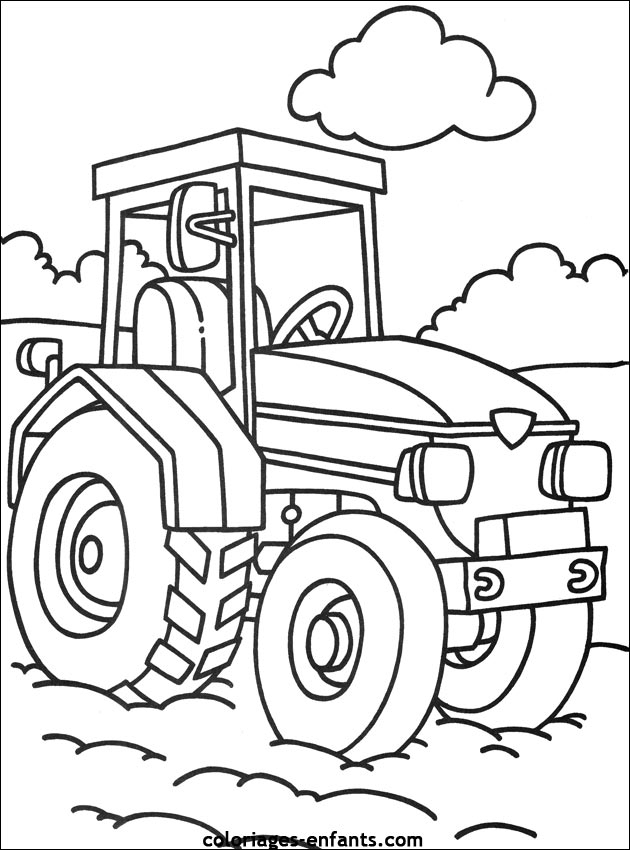 117 Dessins De Coloriage Tracteur À Imprimer à Tracteur A Colorier