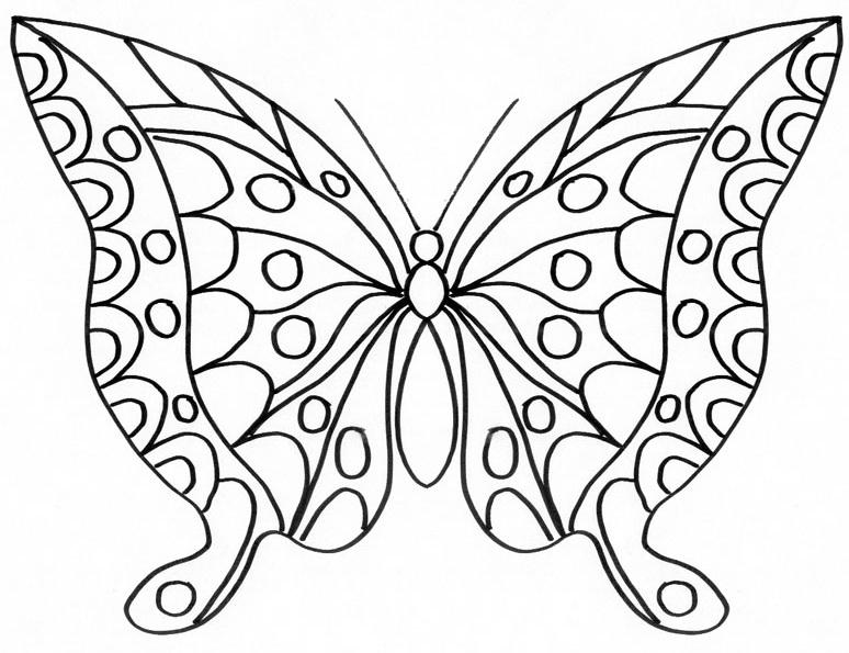 119 Dessins De Coloriage Papillon À Imprimer dedans Coloriage De Papillon A Imprimer Gratuit