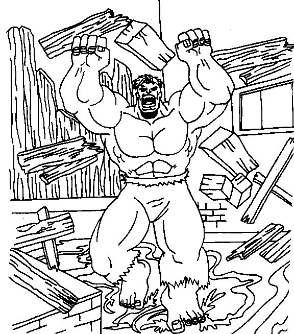 12 Free Printable The Hulk Coloring Pages concernant Coloriage Hulk