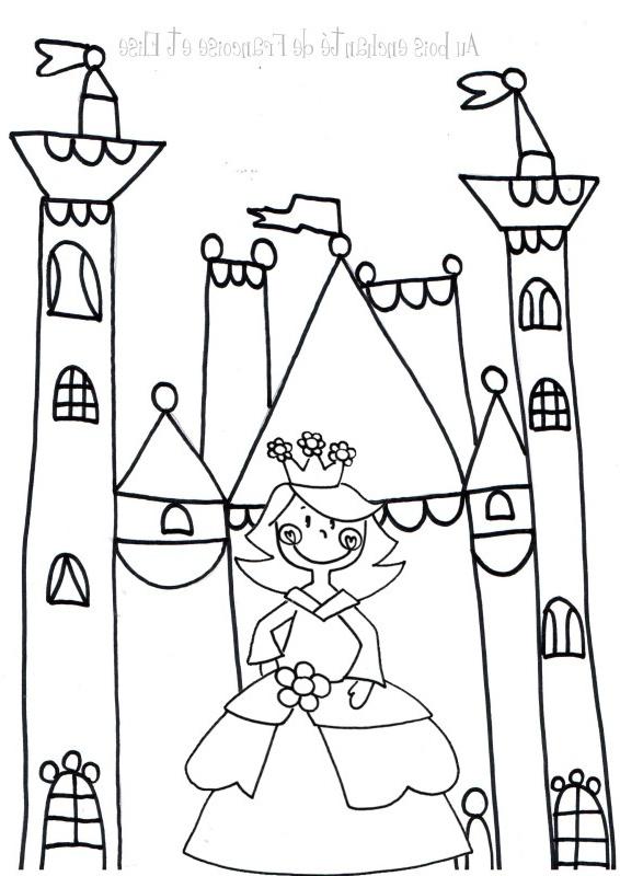12 Luxe De Dessin Chateau Princesse Image - Coloriage tout Coloriage Chateau Princesse