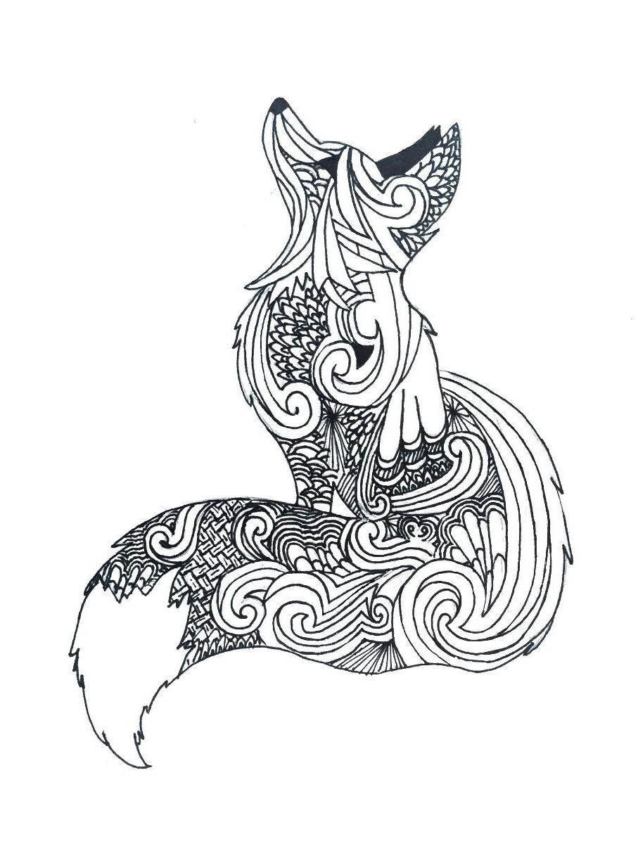 12 Meilleur De Coloriage Mandala Renard Galerie destiné Coloriage Renard À Imprimer