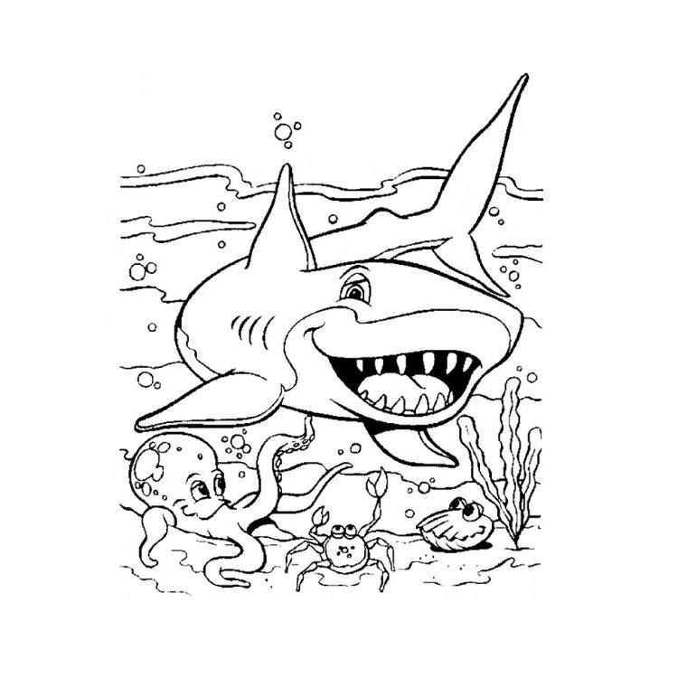 122 Dessins De Coloriage Requin À Imprimer encequiconcerne Requin A Colorier