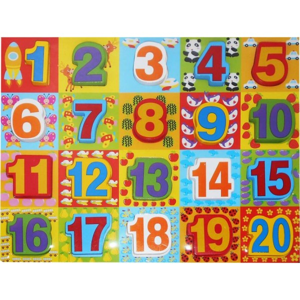 "123 Learning Numbers Colorful Wooden Letter Blocks Toy avec Cache: .Com"" ""Learn-Numbers-In-English"""""