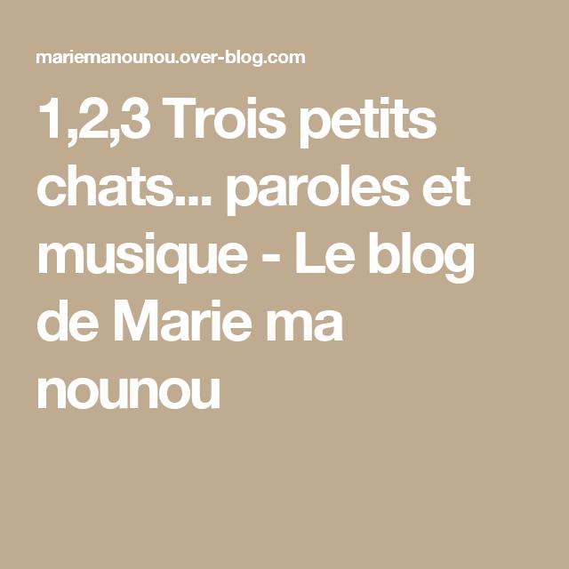 1,2,3 Trois Petits Chats Paroles Et Musique | Parole concernant Parole Chanson 3 Petit Chat