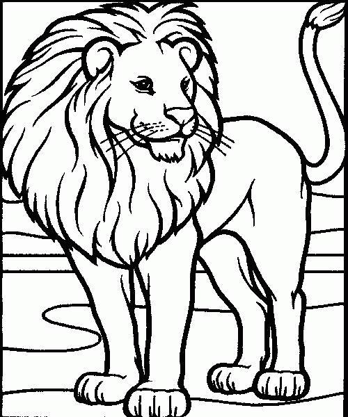 124 Dessins De Coloriage Lion À Imprimer tout Lion A Colorier