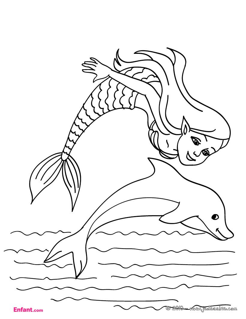 124 Dessins De Coloriage Sirène À Imprimer concernant Coloriage De Sirene