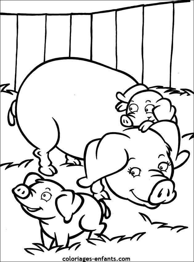128 Best Boerderij Kleurplaten Images On Pinterest intérieur Dessin Petit Cochon