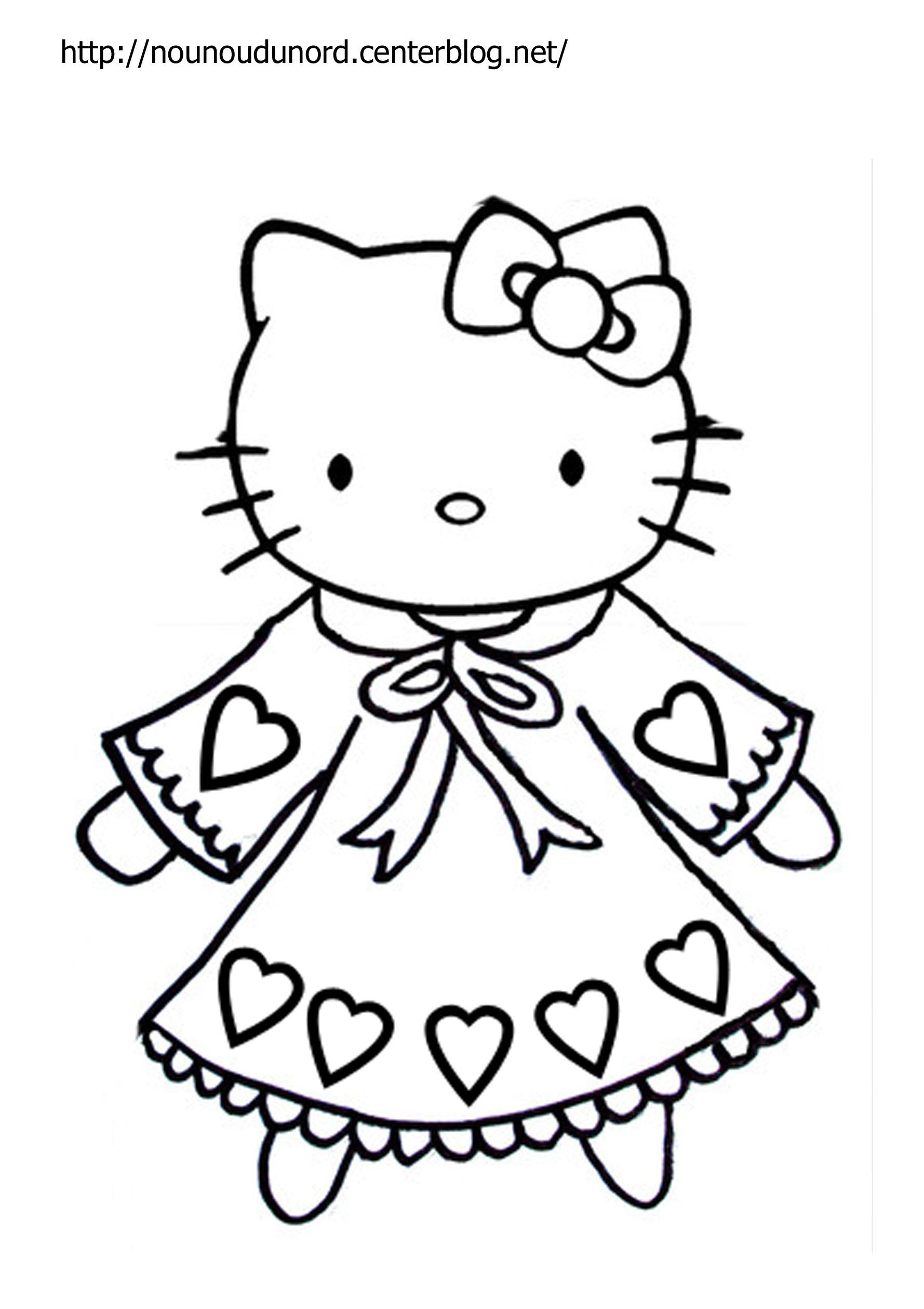 129 Dessins De Coloriage À Imprimer À Imprimer avec Coloriage A Imprimer Hello Kitty