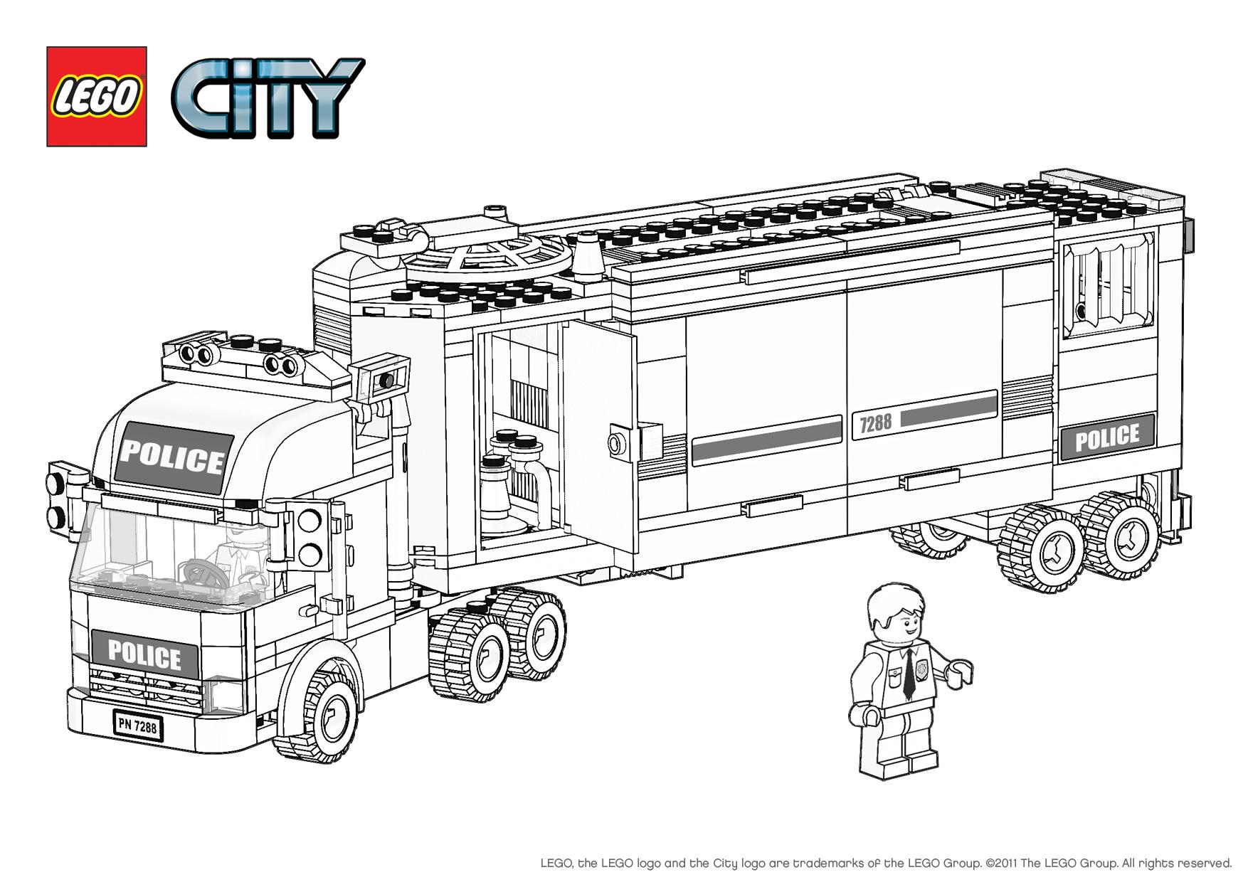 13 Dessins De Coloriage Lego City Undercover À Imprimer tout Dessin Animé Lego City